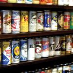 Beer cans at Old Chicago Pizza