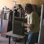 Gary Strate restoring gas pumps