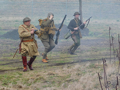Reenactors at Great War Event 1