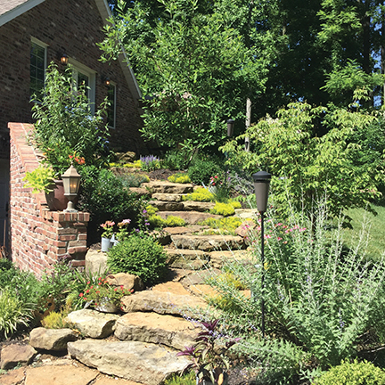 Dallas Foster steps landscaping